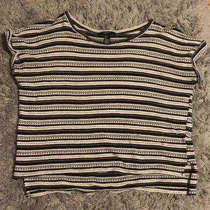 Striped knit t shirt